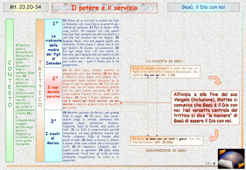 I discepoli Giacomo e Giovanni Mt.