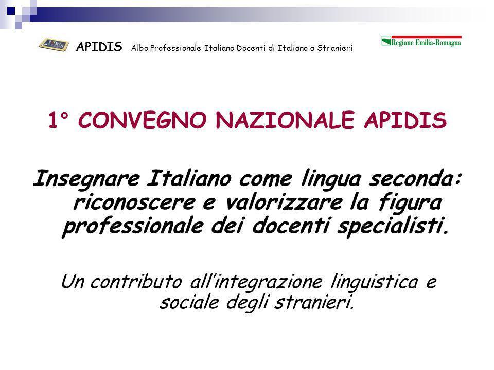 APIDIS Albo Professionale ItalianoDocenti di Italiano a Stranieri Il progetto dellAlbo Professionale Maria Grazia Menegaldo