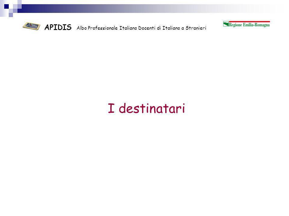 APIDIS Albo Professionale Italiano Docenti di Italiano a Stranieri Stranieri in Italia: 4.235.059 Pari al 7,0% della popolazione totale Aumento rispetto a 2009 = 8,8%.