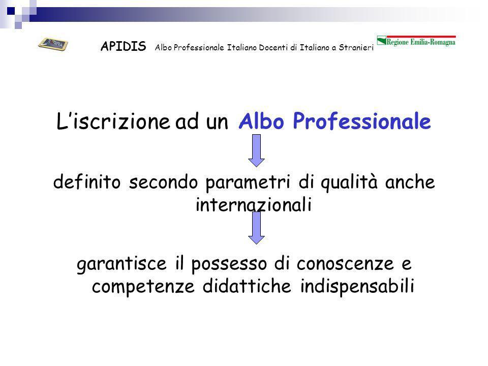 APIDIS Albo Professionale Italiano Docenti di Italiano a Stranieri I docenti