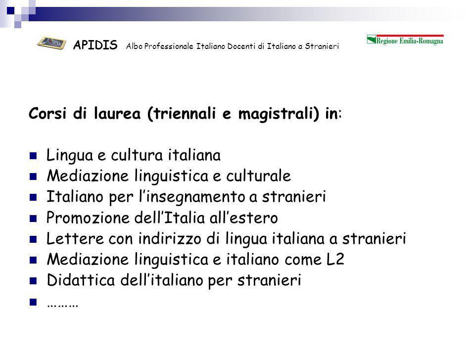 APIDIS Albo Professionale Italiano Docenti di Italiano a Stranieri ….