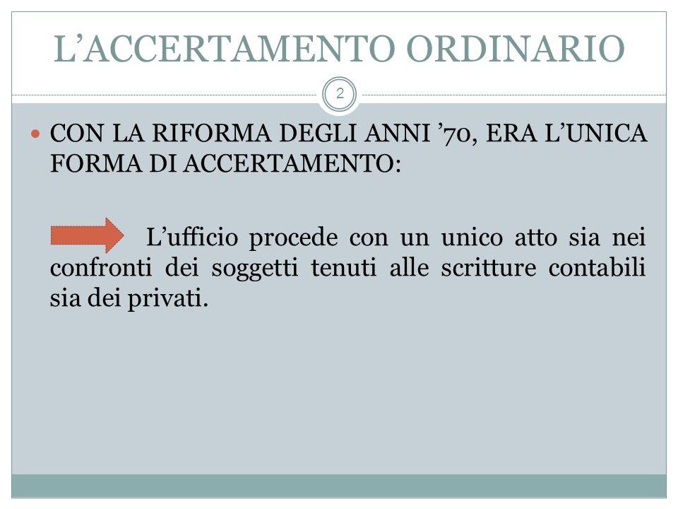 LACCERTAMENTO INTEGRATIVO 3 (ART.