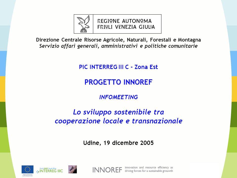 Lo stato di attuazione di INNOREF e il quadro dei Sotto-progetti Infomeeting 19 dicembre 2005