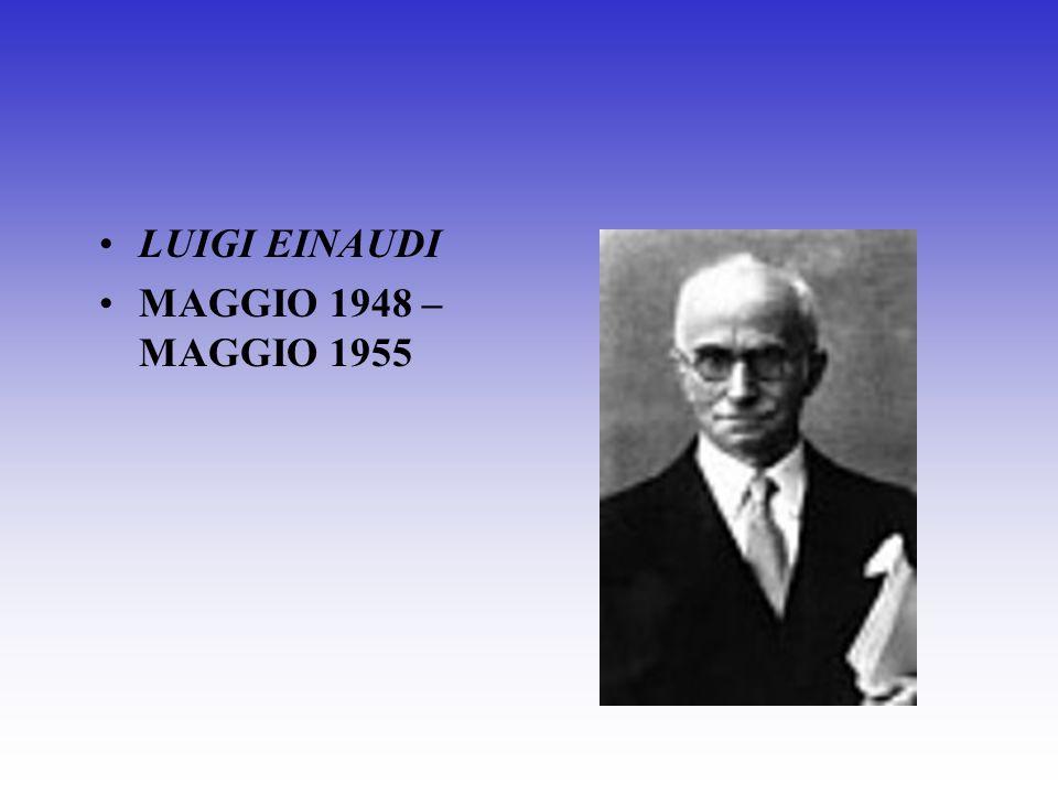 ENRICO DE NICOLA GIUGNO 1946 – 1947 CAPO PROVVISORIO DELLO STATO GENNAIO – MAGGIO 1948
