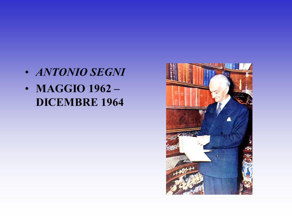 GIOVANNI GRONCHI MAGGIO 1955 – MAGGIO 1962