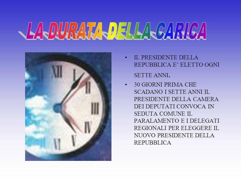 Può essere eletto P.d.R. ogni cittadino Italiano che ha compiuto 50 anni di età e gode dei diritti civili e politici