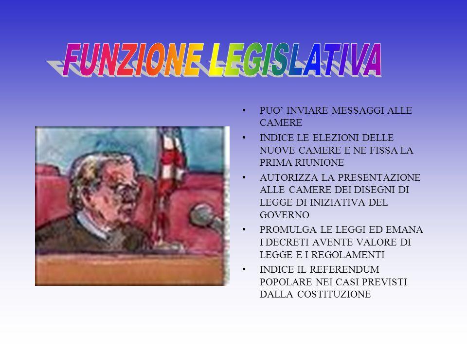 FUNZIONE LEGISLATIVA FUNZIONE ESECUTIVA FUNZIONE GIUDIZIARIA