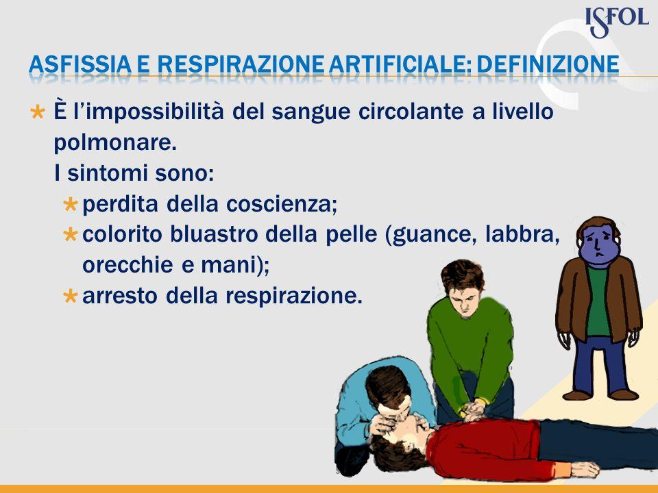 Intervenire con la massima tempestività; sottoporre linfortunato alla respirazione artificiale; in caso di arresto cardiaco si dovrà alternare alla respirazione artificiale il massaggio cardiaco.