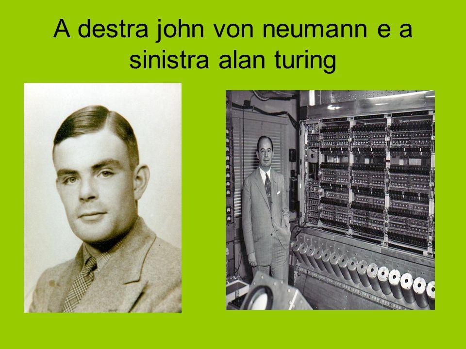 A destra john von neumann e a sinistra alan turing