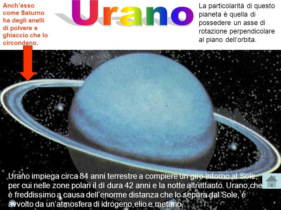 Anchesso come Saturno ha degli anelli di polvere e ghiaccio che lo circondano. La particolarità di questo pianeta è quella di possedere un asse di rot