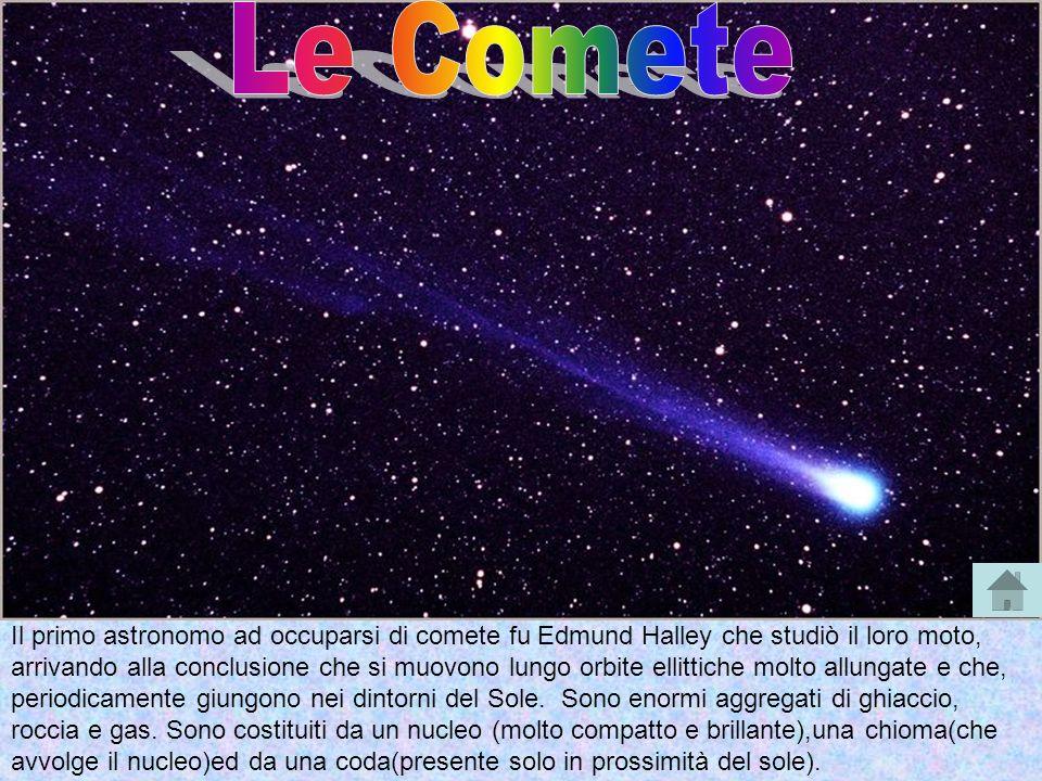 Il primo astronomo ad occuparsi di comete fu Edmund Halley che studiò il loro moto, arrivando alla conclusione che si muovono lungo orbite ellittiche