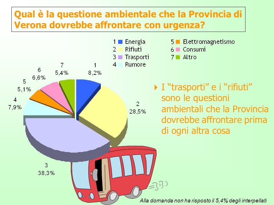 Qual è la questione ambientale che la Provincia di Verona dovrebbe affrontare con urgenza.