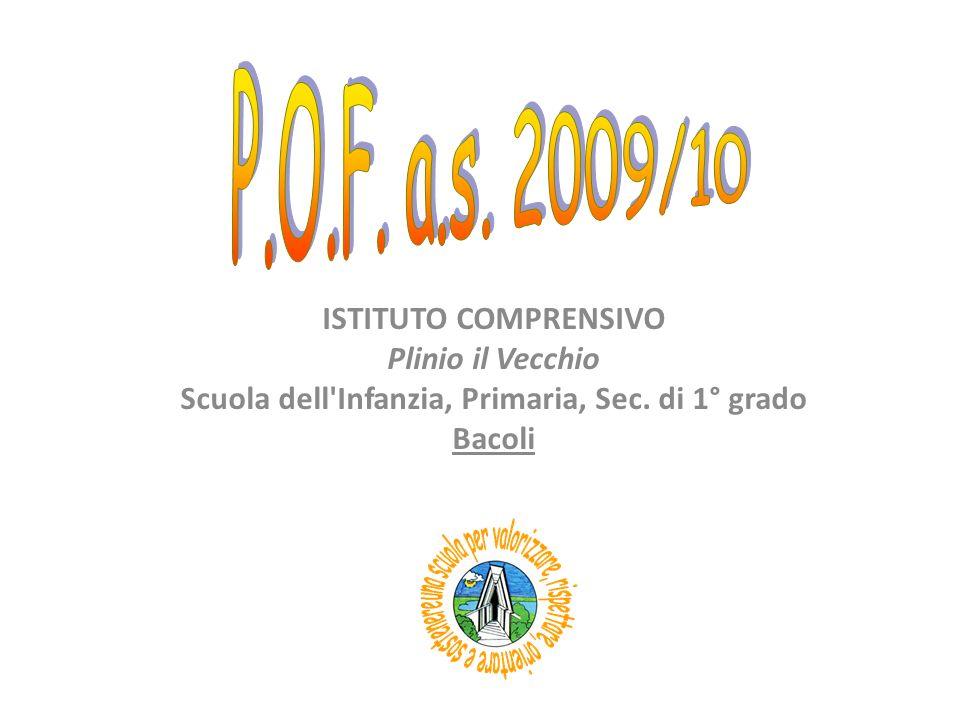 ISTITUTO COMPRENSIVO Plinio il Vecchio Scuola dell'Infanzia, Primaria, Sec. di 1° grado Bacoli