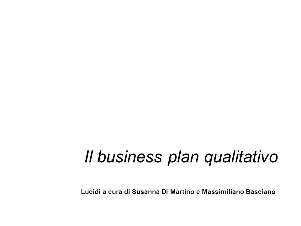 Il business plan qualitativo Lucidi a cura di Susanna Di Martino e Massimiliano Basciano