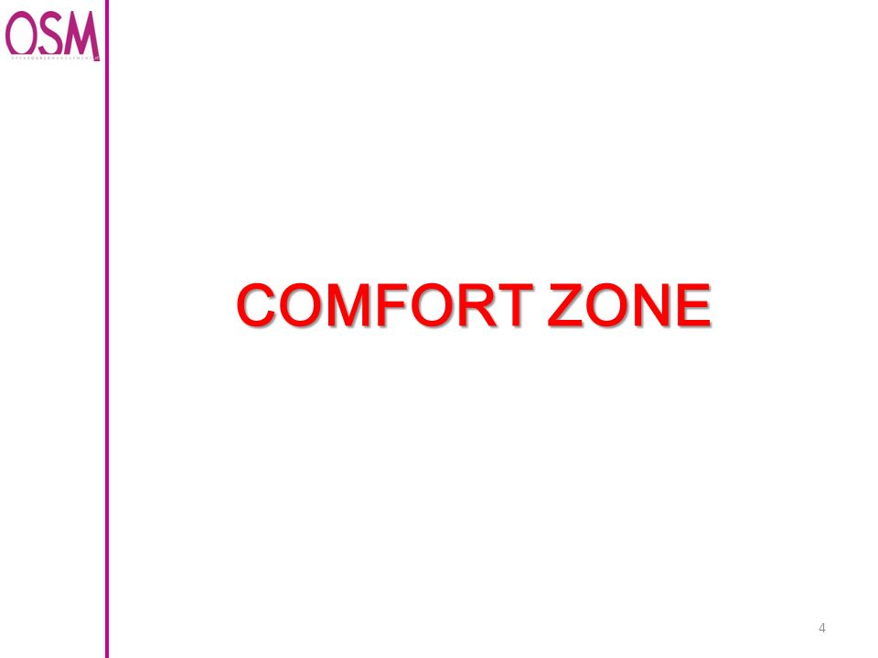 4 COMFORT ZONE
