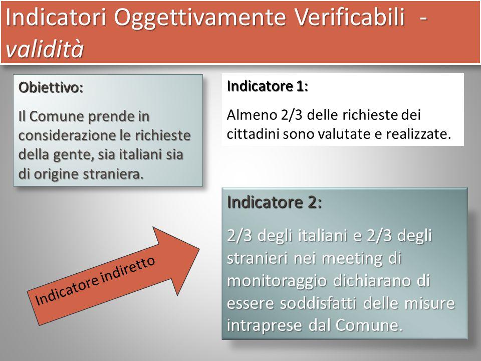 Obiettivo: Il Comune prende in considerazione le richieste della gente, sia italiani sia di origine straniera.