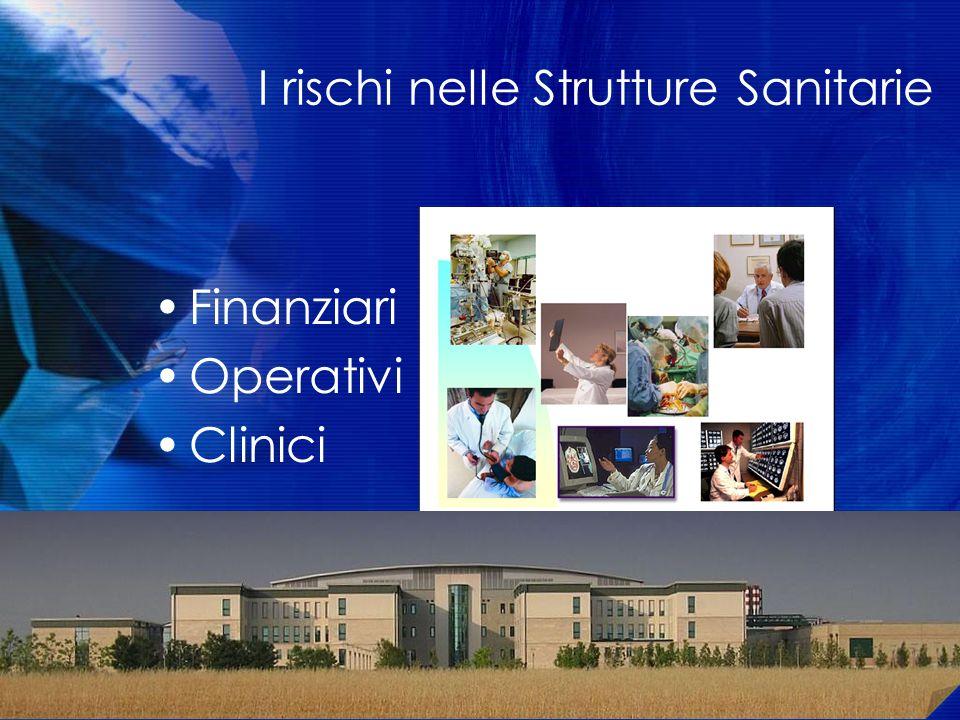 I rischi nelle Strutture Sanitarie Finanziari Operativi Clinici vanOstenberg P. Risk Management and Quality Evaluation, 2005 9