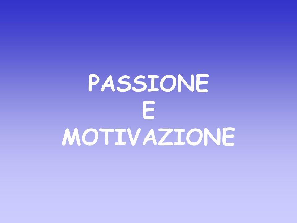 PASSIONE E MOTIVAZIONE