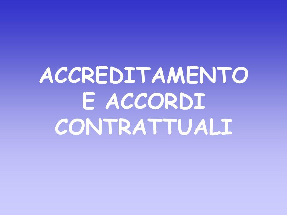 ACCREDITAMENTO E ACCORDI CONTRATTUALI