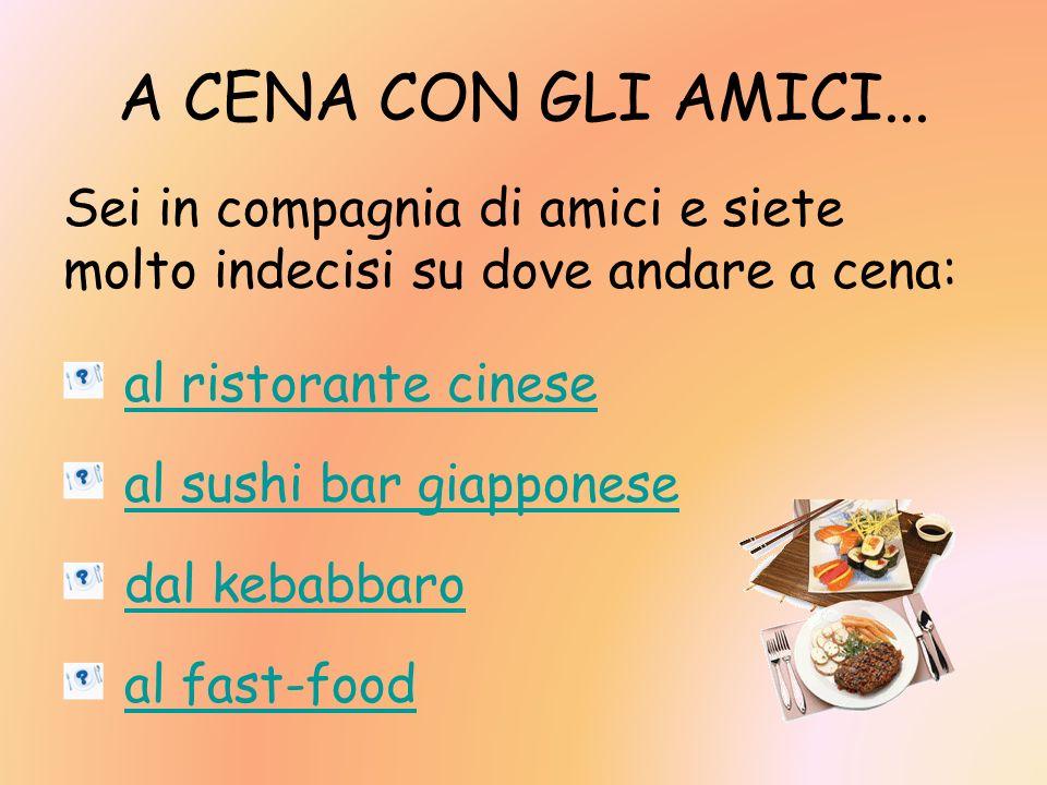 Il menù propone quattro piatti: quale scegli.