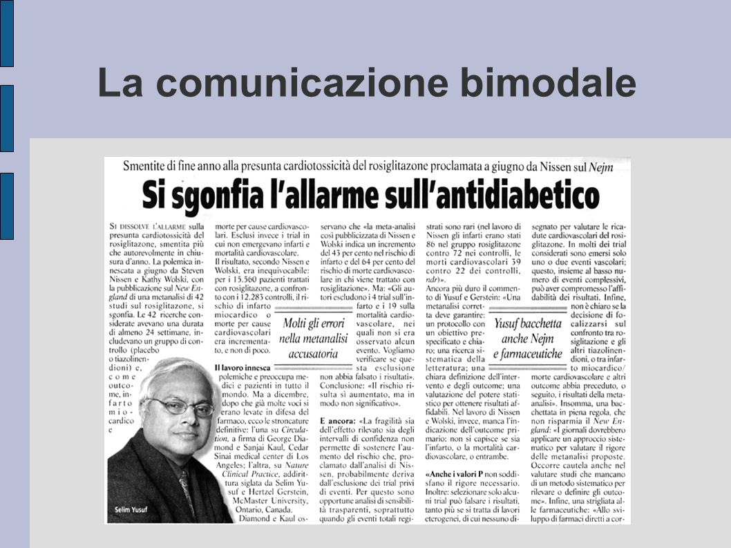 La comunicazione bimodale