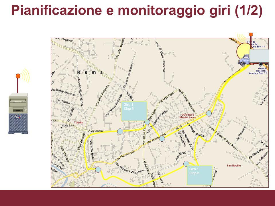 Giro 1 Stop 3 Giro 1 Stop n Pianificazione e monitoraggio giri (1/2) PICT