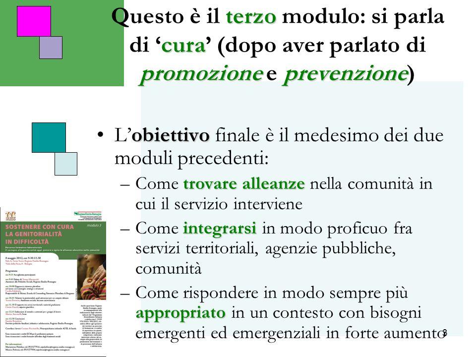 3 terzo cura promozioneprevenzione Questo è il terzo modulo: si parla di cura (dopo aver parlato di promozione e prevenzione) obiettivoLobiettivo fina