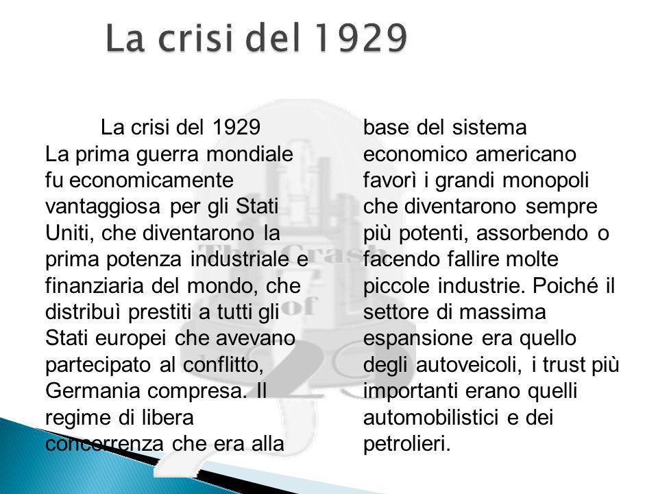 Fine del liberismo puro Crisi complessiva del mondo occidentale Avanzata economica dellURSS APPROFONDIMENTO