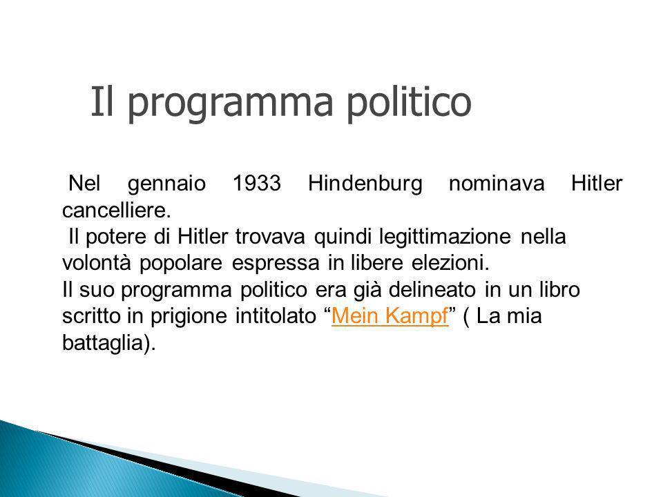 Nel gennaio 1933 Hindenburg nominava Hitler cancelliere.