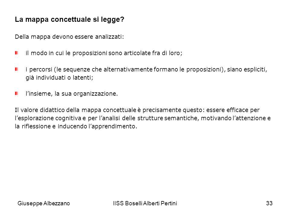 IISS Boselli Alberti Pertini33 Della mappa devono essere analizzati: il modo in cui le proposizioni sono articolate fra di loro; i percorsi (le sequen