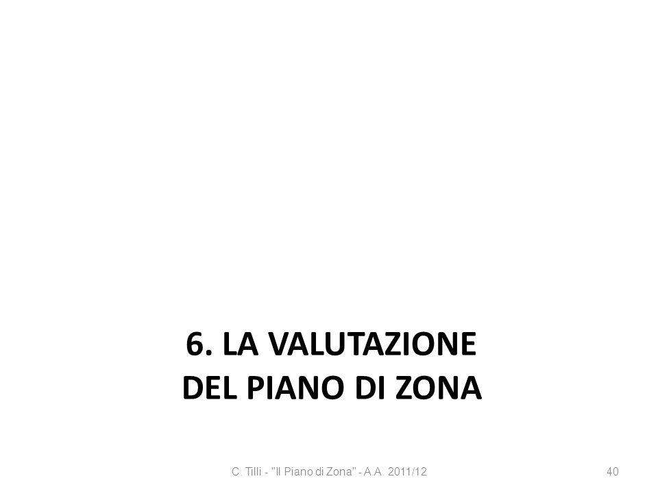 6. LA VALUTAZIONE DEL PIANO DI ZONA C. Tilli -