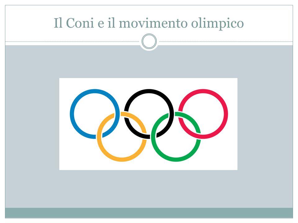 Il Coni e il movimento olimpico