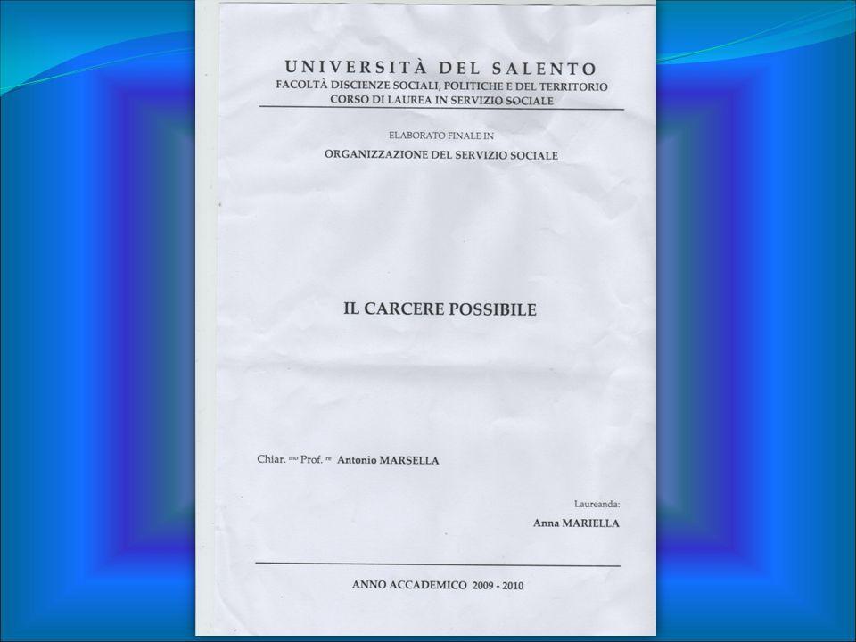 Excursus storico: L.354/75 artt.17-78 Legge Quadro n°266/91 L.