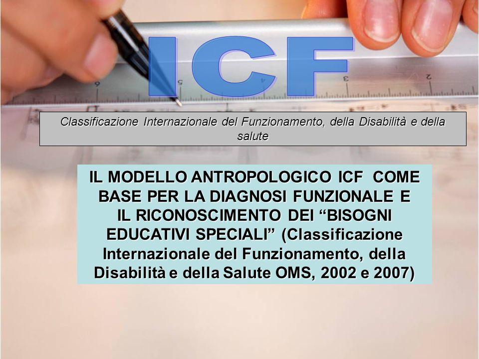 IL MODELLO ANTROPOLOGICO ICF COME BASE PER LA DIAGNOSI FUNZIONALE E IL RICONOSCIMENTO DEI BISOGNI EDUCATIVI SPECIALI (Classificazione Internazionale d