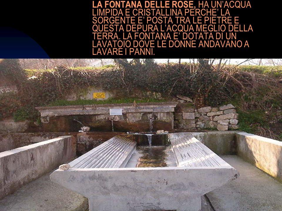 04/01/201412 LA FONTANA DELLE ROSE, HA UNACQUA LIMPIDA E CRISTALLINA PERCHE LA SORGENTE E POSTA TRA LE PIETRE E QUESTA DEPURA LACQUA MEGLIO DELLA TERR