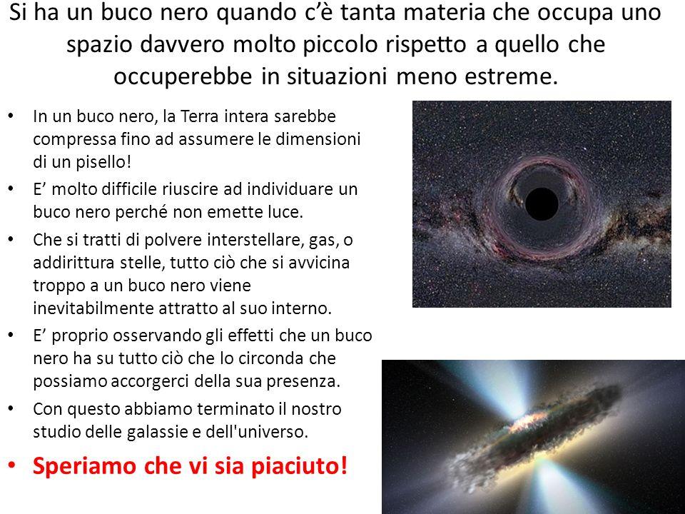 Si ha un buco nero quando cè tanta materia che occupa uno spazio davvero molto piccolo rispetto a quello che occuperebbe in situazioni meno estreme. I