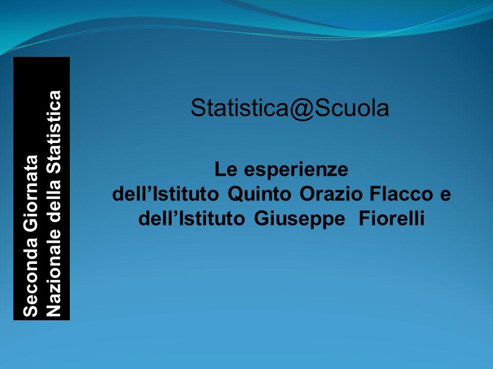 Statistica@Scuola Seconda Giornata Nazionale della Statistica Le esperienze dellIstituto Quinto Orazio Flacco e dellIstituto Giuseppe Fiorelli