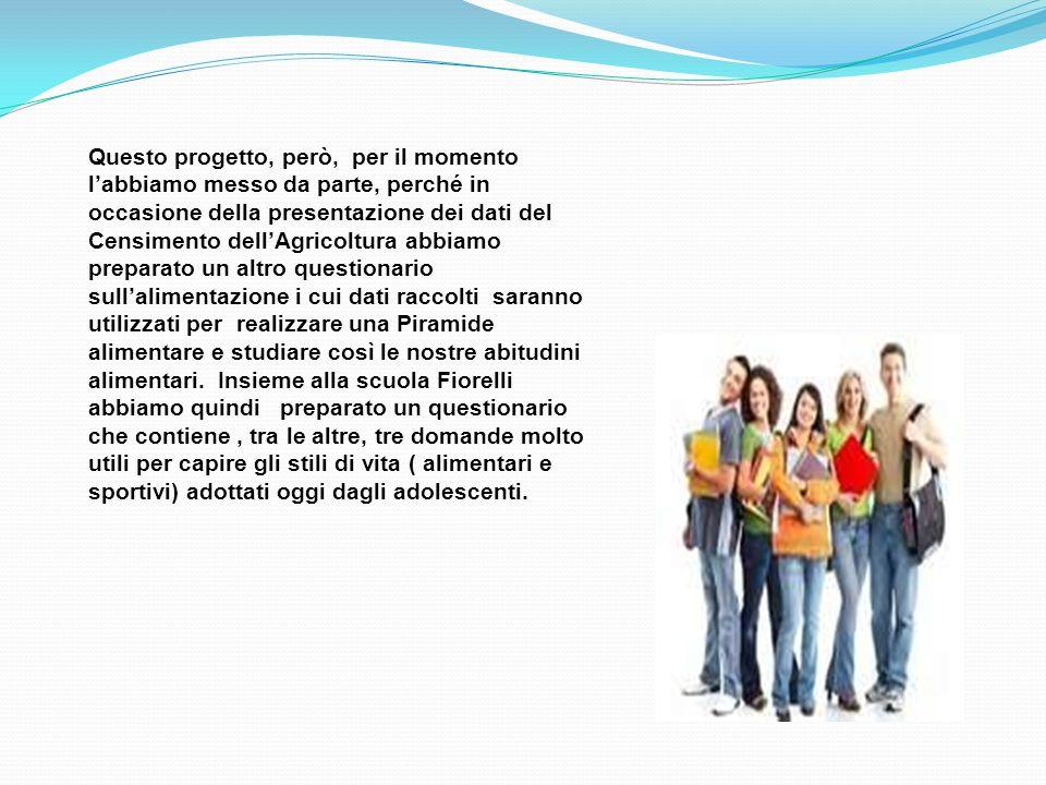 6° Censimento dellagricoltura 2010 La piramide alimentare Dicci cosa mangi e ti diremo chi sei Abbiamo costruito una Piramide utilizzando i riferimenti del Ministero della Salute (2009).