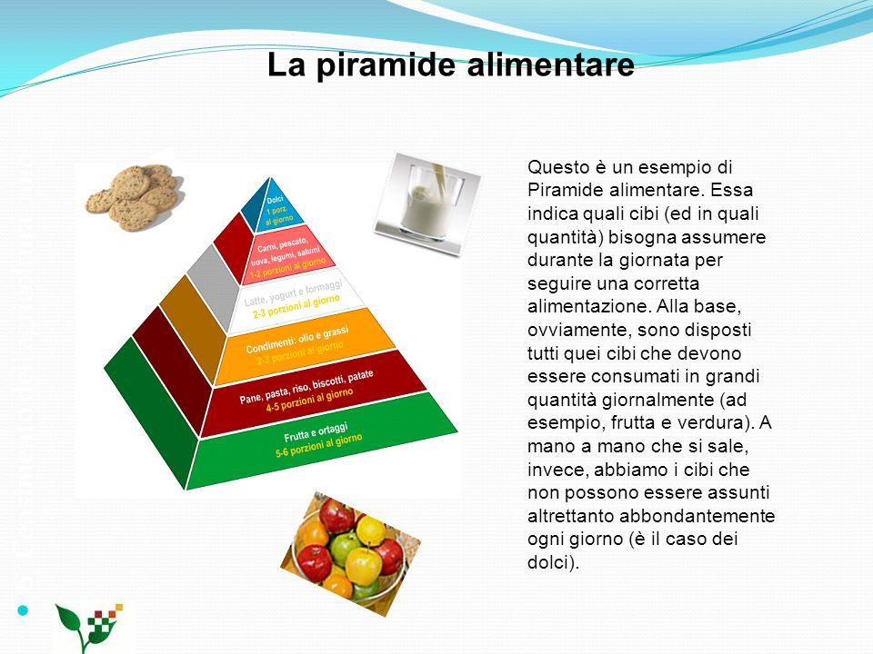 6° Censimento dellagricoltura 2010 La piramide alimentare Questo è un esempio di Piramide alimentare. Essa indica quali cibi (ed in quali quantità) bi