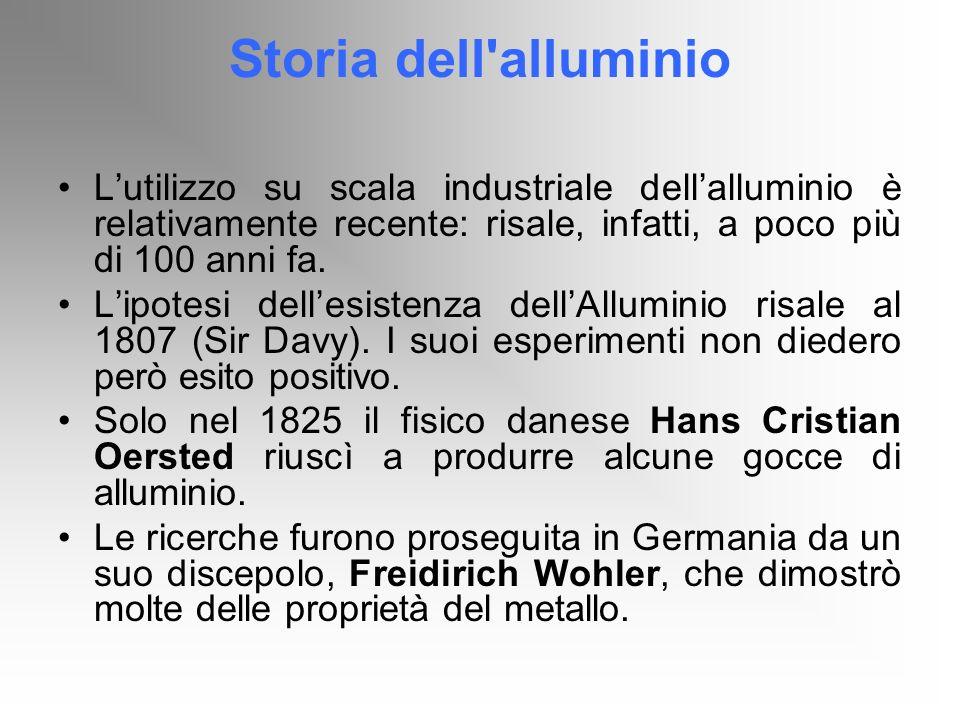 Storia dell'alluminio Lutilizzo su scala industriale dellalluminio è relativamente recente: risale, infatti, a poco più di 100 anni fa. Lipotesi delle