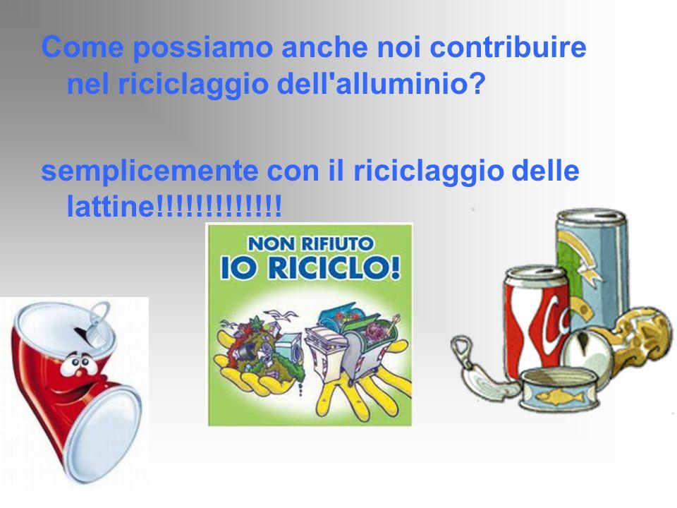 Come possiamo anche noi contribuire nel riciclaggio dell'alluminio? semplicemente con il riciclaggio delle lattine!!!!!!!!!!!!!