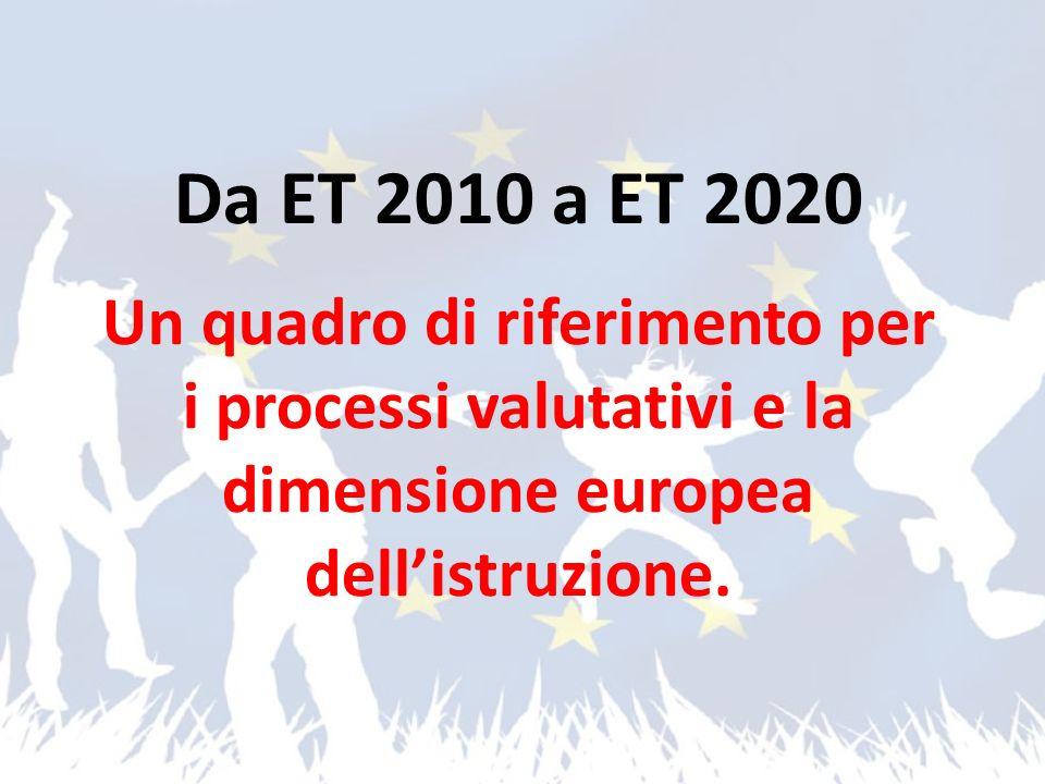 Da ET 2010 a ET 2020 Un quadro di riferimento per i processi valutativi e la dimensione europea dellistruzione.