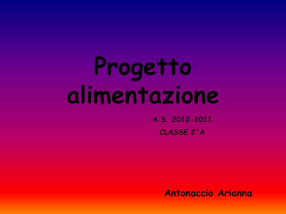 Progetto alimentazione Antonaccio Arianna A.S. 2010-2011 CLASSE 2^A