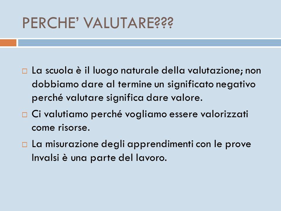PERCHE VALUTARE??.