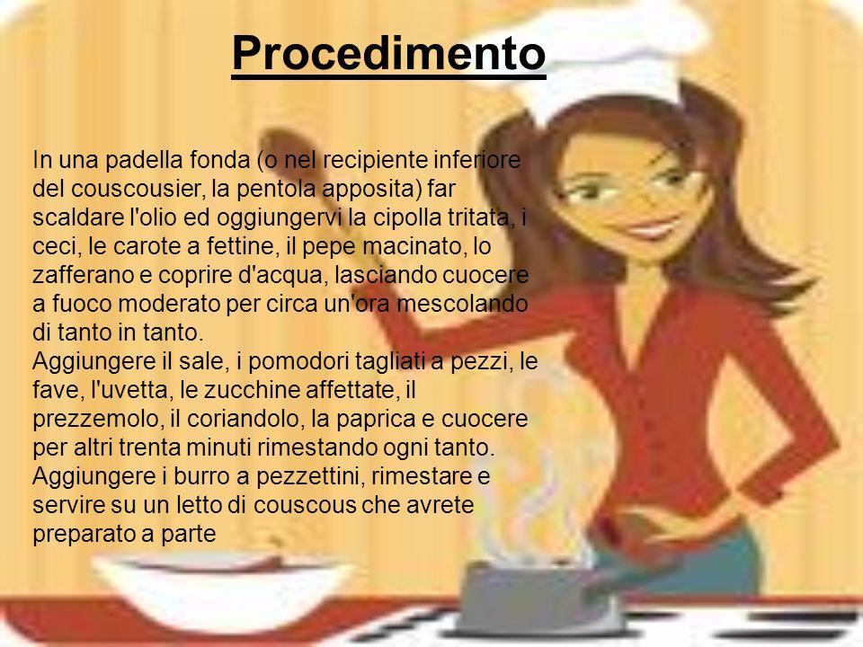 Informazioni Informazioni ingrediente straniero Il couscous è una semola che si presenta per una varietà infinita di piatti Piatto tipico nei banchetti e matrimoni.