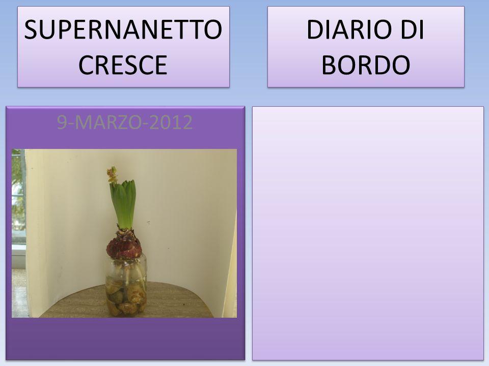 SUPERNANETTO CRESCE 9-MARZO-2012 DIARIO DI BORDO
