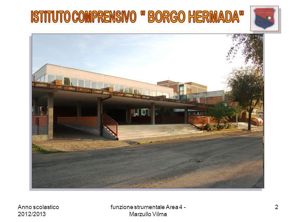 Anno scolastico 2012/2013 funzione strumentale Area 4 - Marzullo Vilma 3 ISTITUTO COMPRENSIVO BORGO HERMADA Scuola dellInfanzia, Primaria e Secondaria di I grado Via Bonificatori della palude pontina.
