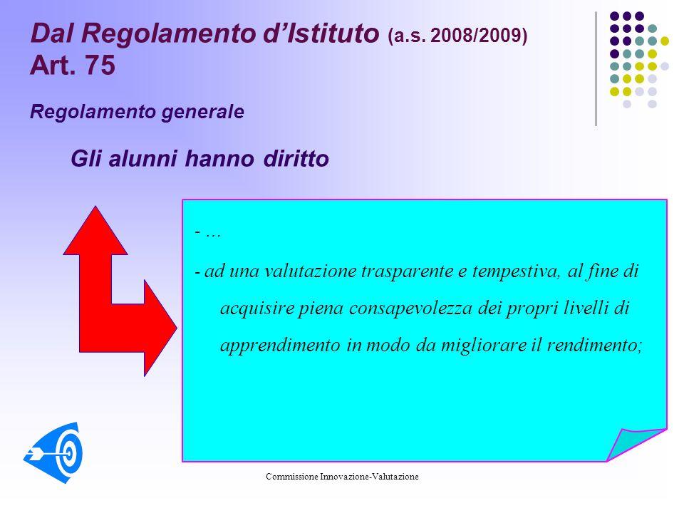 Commissione Innovazione-Valutazione Dal Regolamento dIstituto (a.s.