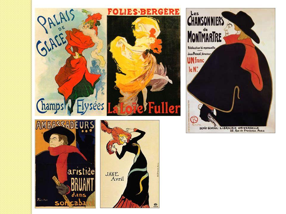 Cabaret, café, can-can, cinéma La Belle Époque vede la nascita delle forme artistiche legate al divertimento e al tempo libero.