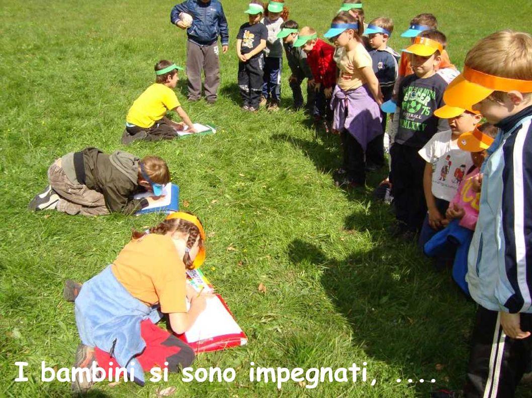 I bambini si sono impegnati,....